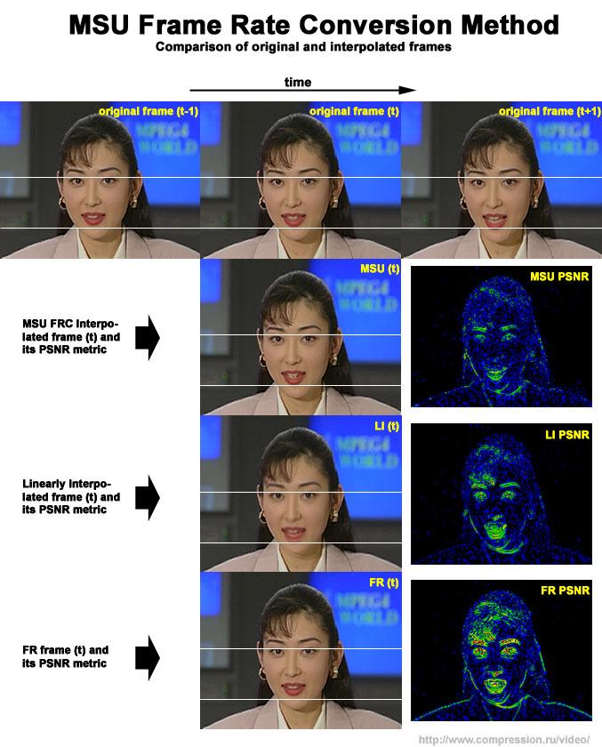 MSU Frame Rate Conversion Method